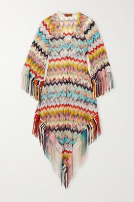 Missoni Mare Fringed Crochet-knit Kaftan - Yellow