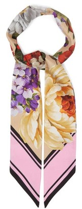 Dolce & Gabbana Slim Floral-print Scarf - Multi