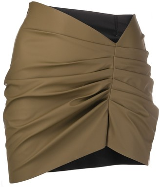 MAISIE WILEN Ruched Mini Skirt