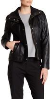 Cole Haan Genuine Lambskin Zip Front Jacket