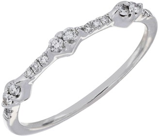 Bony Levy 18K White Gold Diamond Station Ring - 0.15 ctw