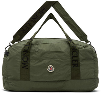 Moncler Green Nylon Duffle Bag