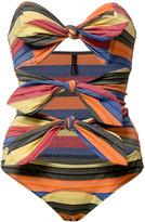 Lisa Marie Fernandez Tripple Poppy Maillot swimsuit - women - Nylon/Spandex/Elastane - II