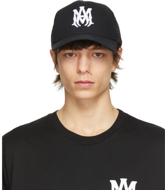 Amiri Black MA Trucker Hat