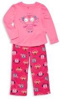 Petit Lem Little Girl's Two-Piece Owl Graphic Pajama Set