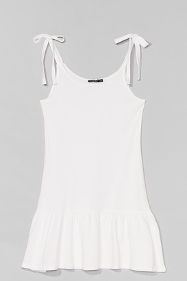 Nasty Gal Womens Just Tie Your Best Relaxed Mini Dress - White