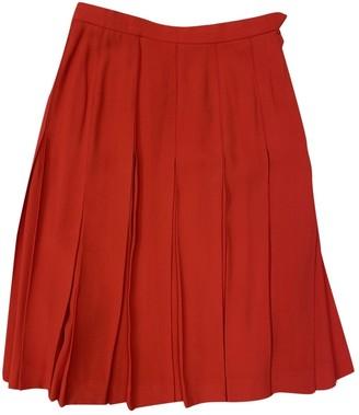 Saint Laurent Red Silk Skirt for Women Vintage