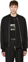 Givenchy Black Padded Bomber Jacket