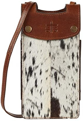 STS Ranchwear Cowhide Cell Phone Crossbody (Cowhide/Tornado Brown) Handbags