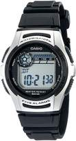 Casio Men's Basic Black and Silver Watch Digital W213-1ACF