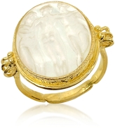 Tagliamonte Three Graces - 18K Gold White Mother of Pearl Cameo Ring