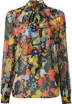 Mary Katrantzou psychedelic print Vedda blouse