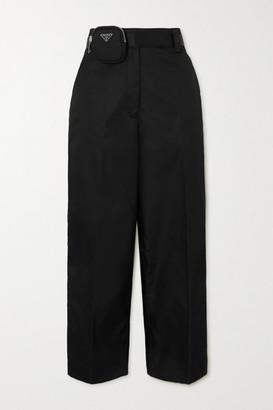 Prada Embellished Belted Nylon Straight-leg Pants - Black