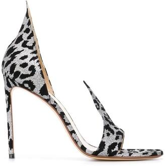 Francesco Russo Leopard Print Sandals