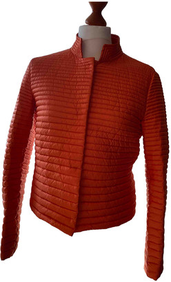 Moncler Orange Polyester Coats
