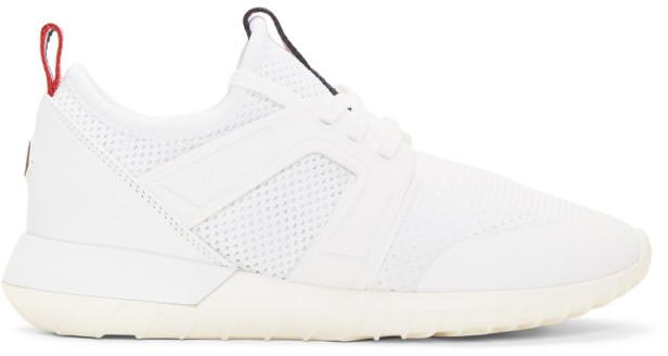 Moncler White Meline Sneakers