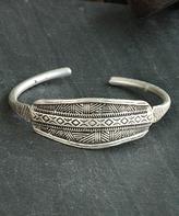 Nautilus Silver-Plated Geometric Cuff