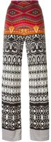 Etro printed straight trousers - women - Silk - 42