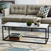 west elm Box Frame Coffee Table - Marble/Antique Bronze
