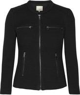 Joie Jenika textured cotton-blend and woven jacket