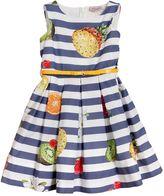 MonnaLisa Fruit Printed Cotton Poplin Dress