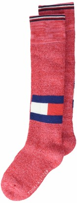 Tommy Hilfiger Girl's Th Kids Kneehigh 1p Logo Run Free Calf Socks