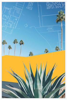 Jonathan Bass Studio Palm Springs Color Block 3, Decorative Framed Hand