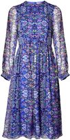 Matthew Williamson Blue Folkloric Floral Boho Dress