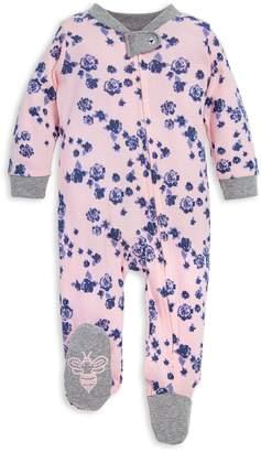 Burt's Bees Indigo Floral Print Organic Baby Sleep & Play Pajamas