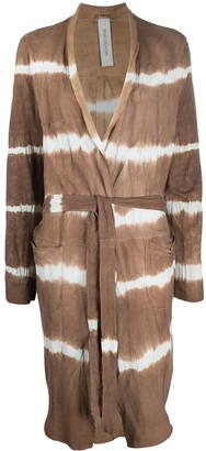 Giorgio Brato Tie-Dye Belted Coat