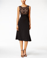 Connected Lace A-Line Dress