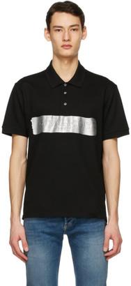 Givenchy Black Latex Logo Polo