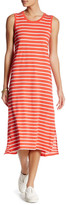 Joe Fresh Crew Neck Stripe Midi Dress