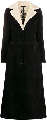Ermanno Scervino slim-fit shearling coat