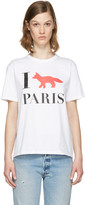 MAISON KITSUNÉ White i Fox Paris T-shirt