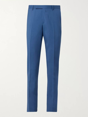 Paul Smith Wool and Mohair-Blend Suit Trousers - Men - Blue