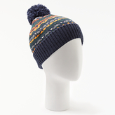 John Lewis Fairisle Bobble Beanie Hat, One Size, Navy/Multi