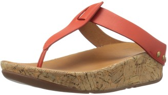 FitFlop Women's Ibiza Cork Leather Toe-Thong Sandals Flip Flop