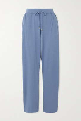 Hanro Cotton And Modal-blend Pajama Pants - Blue