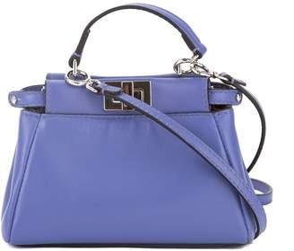 Fendi Blue Leather Micro Peekaboo Bag (New with Tags)