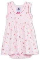Petit Bateau 2 In 1 Baby Girl Sleeveless Flower Print Bodysuit-Dress