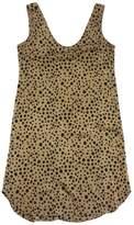 Tucker Tan & Black Spotted Silk Tank Dress