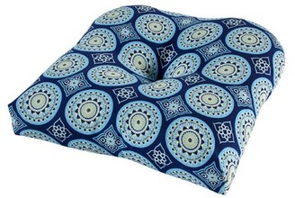 Bungalow Rose Indoor/Outdoor Seat Cushion Fabric: Blue
