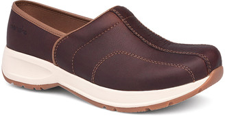 Dansko Women's Clogs Brown - Brown Shaina Tumbled Leather Clog - Women