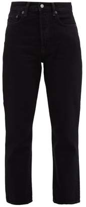 Acne Studios Mece Straight Leg Cropped Jeans - Womens - Black