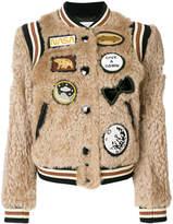 Coach patch bomber jacket