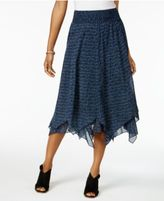 Style&Co. Style & Co Petite Cotton Printed Handkerchief-Hem Skirt, Only at Macy's