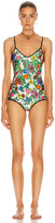 Gucci Floral One Piece Swimsuit in Ivory & Pink | FWRD