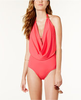 Bar III Draped Monokini One-Piece Swimsuit, Only at Macy's