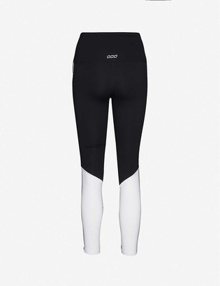 Lorna Jane Moto Cross logo-print mid-rise stretch-woven leggings